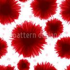 Manchas de cores floridas Design de padrão vetorial sem costura