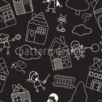 Desenho de quadro-negro infantil Design de padrão vetorial sem costura