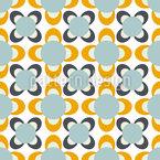 Flores Abstratas de Cometa Design de padrão vetorial sem costura