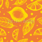 Citrus Leaves Seamless Vector Pattern Design