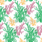 Curly Corals Seamless Vector Pattern Design