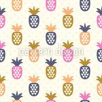 Ananas Und Dreiecke Nahtloses Vektormuster