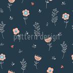 Ladybug Dreams Vector Pattern