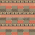 Afrikanische Kultur Nahtloses Vektormuster