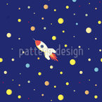 Space Rocket Seamless Vector Pattern Design