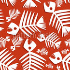 Fish Bones Seamless Vector Pattern Design