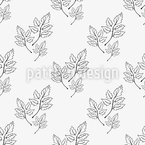 Foliage Bouquet Seamless Vector Pattern Design