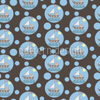 Seifenblasen-Boote Nahtloses Vektormuster