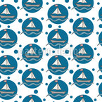 Bubble Sailing Boats Repeating Pattern