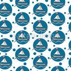 Seifenblasen-Seegelboote Nahtloses Vektormuster