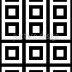 Monocromo Quadrado Design de padrão vetorial sem costura