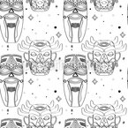 Maya Masks Seamless Vector Pattern Design