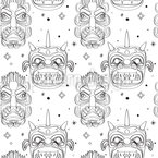 Inca Masks Seamless Vector Pattern Design