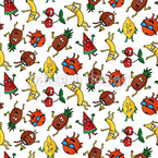 Fruit Party Seamless Pattern