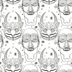 Maya Magic Masks Seamless Vector Pattern Design