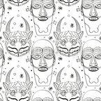 Maya Magie Masken Vektor Muster
