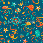 Ocean Treasures Seamless Vector Pattern Design