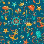 Ozean Schätze Nahtloses Vektormuster