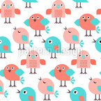 Singing Birds Repeat Pattern