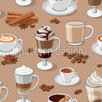 Coffeemania Seamless Vector Pattern Design