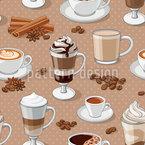 Kaffeelust Nahtloses Vektormuster