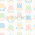 A Touch Of Retro Flowers Design Pattern