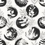 Botanische Textur Nahtloses Vektormuster