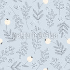 Botanical Texture Seamless Pattern