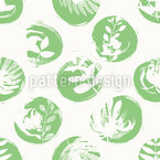Botanical Imprint Seamless Vector Pattern