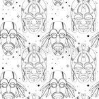 Inca Magic Masks Seamless Vector Pattern Design