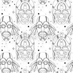 Inka Magie Masken Nahtloses Vektormuster