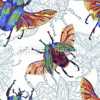 Tropical Beetles Pattern Design