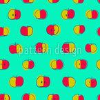 Polka Dot Äpfel Nahtloses Vektormuster