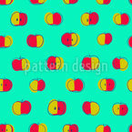 Polka Dot Apples Seamless Vector Pattern Design