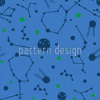 Stellar Constellation Seamless Vector Pattern Design