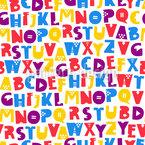 Alphabetisch Nahtloses Vektormuster