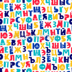 Russian Alphabet Seamless Vector Pattern Design