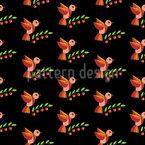 Kirschvögel Nahtloses Vektormuster