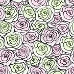Stilisierte Rosenblüten Nahtloses Vektormuster