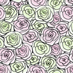 Stylized Rose Blossoms Vector Design