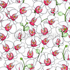 Blooming Orchids Repeating Pattern