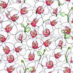 Blühende Orchideen Nahtloses Vektormuster