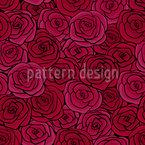 Танец цветения роз Бесшовный дизайн векторных узоров