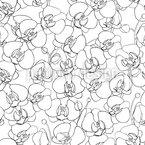 Орхидеи Океан Бесшовный дизайн векторных узоров
