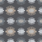 Ikat Eyes Seamless Vector Pattern Design