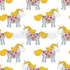 Flowerpower Unicorn Seamless Vector Pattern