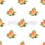 Peony Dots Seamless Vector Pattern Design