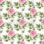 Peonies Under The Sun Seamless Vector Pattern Design