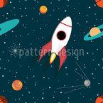 Raumfahrzeug Nahtloses Vektormuster