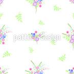 Летние цветы Бесшовный дизайн векторных узоров